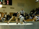 Gribbin with a 2-point takedown