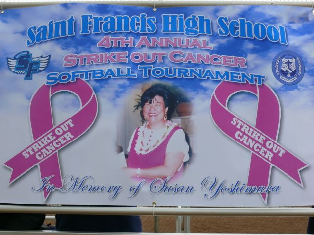 St. Francis Strike Out Cancer SB