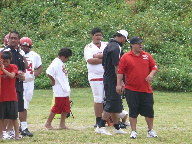 Big Boys Football: Kahuku Intermediate 54- Kapolei 14 at Laie Park