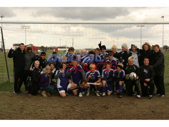 2009 Boys' Soccer Win Regional 1st time in history