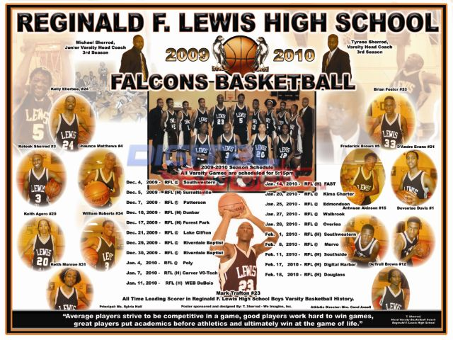 Reginald F. Lewis High School 2009-10 Varsity Basketball Team