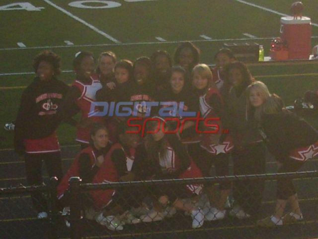 Edgewood JV cheerleaders