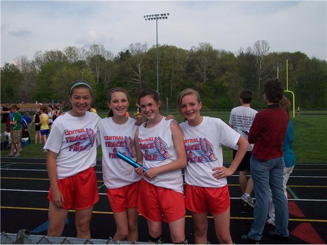 Girls 4x800 school record holders!!